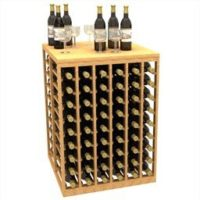 ine Tasting Table and Storage Wine Rack measuring 38 inches in height