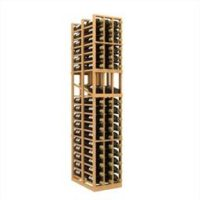 114-bottled standalone 3-Columned 6 Ft Display Double Deep Wine Rack Kit