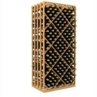 400-bottled standalone double deep lattice diamond bin wine rack