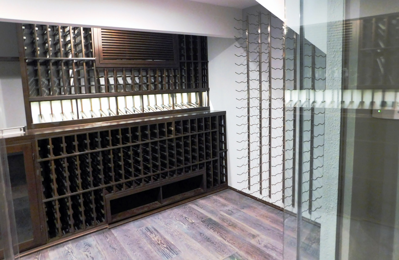 Home Wine & Cigar Humidor Cellar Room Construction Design Ideas California 1300p