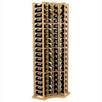 6-Ft-Four-Column-Curved-Corner-Standard-Wood-Wine-Rack