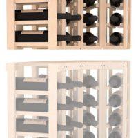4 Column Corner Wine Rack Extender Pine Natural
