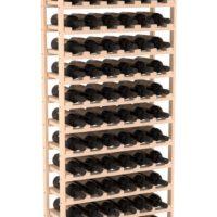 6.5' Baker Style Champagne Wine Rack Kit Pine Natural