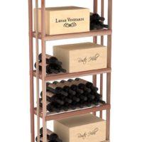 6.5 Ft Rectangular Storage Wine Rack Kit Redwood Natural