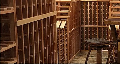 Example wine cellar created using these Fast Rack Kits, have a question, need a quote or a design?
