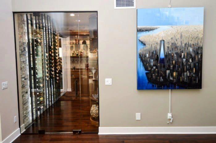 Aliso Viejo California Glass Wine Cellar Design by Coastal Custom Wine Cellars