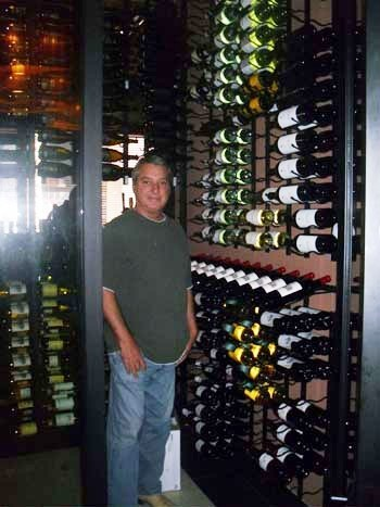 Glass Custom Wine Cellar Capital Seafood Restaurant Irvine California