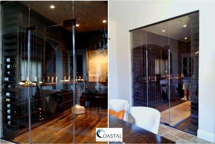 Glass Wine Cellar Door Installation Newport Coast California
