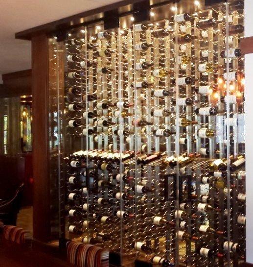 Metal and Glass Wine Cellar Coto de Caza Country Club California