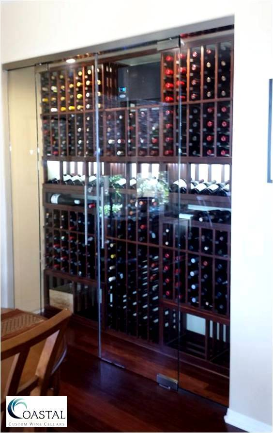 San Clemente California Glass Wine Cellar