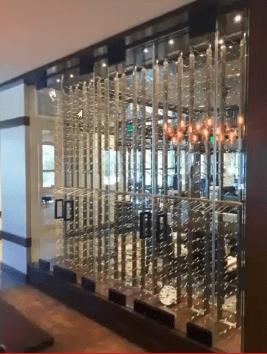 Tempered Glass Wine Cellar Coto de Caza Golf and Racquet Club California